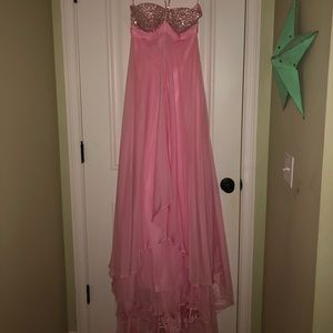 Dresses & Skirts - Pink Beaded Prom Dress